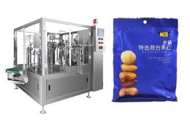पूर्व-निर्मित बैग भोजन ग्रेन्युल सीलिंग पैकेजिंग मशीन भरना