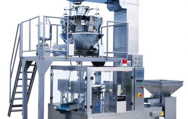 स्वचालित कॉफी बीन भोजन रोटरी जिपर पाउच पैकेजिंग मशीन