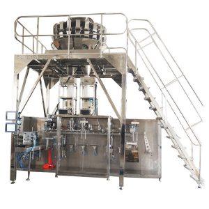 Granules के लिए मल्टीहेड तराजू के साथ क्षैतिज पूर्व निर्मित पैकिंग मशीन